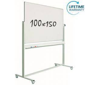 verrijdbaar whiteboard emaille 100 x 150 cm