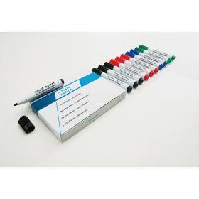Whiteboard-Stift-Set - Gemischte Farben - 10 Stück - Magnettafel-Marker mit viel Tinte