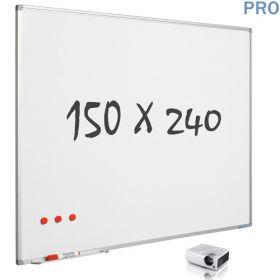 """Whiteboard """"Pro""""– matt – Emaille – magnetisch – 16:10 – 150x240cm"""