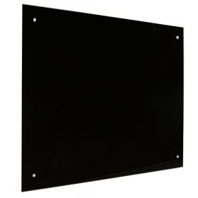 Glas Magnettafel – 90x120 cm - Schwarz