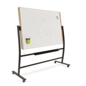 Rocada Natural Whiteboard mit Rollen - magnetisch - schwenkbar - 100x150cm