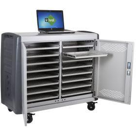 Laptopwagen - Safecart 16 PRO+ - Platzsparende Lagerung von 16 Laptops