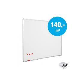 """Whiteboard """"Pro"""" - Matt - Emaille – auf Maß - für Projektion mit Beamer (max. 120-400 cm)"""